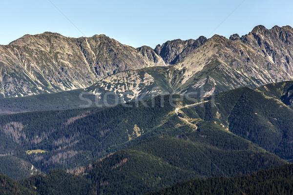 Nyár kilátás hegyek mutat szépség tájkép Stock fotó © marekusz