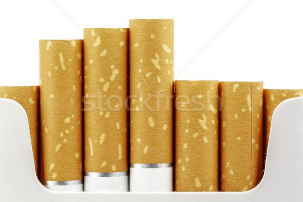 Sigara ileri paketlemek yukarı yakın duman Stok fotoğraf © marekusz
