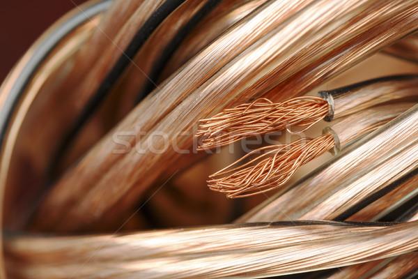 Spreker draad omhoog sluiten industrie macht Stockfoto © marekusz
