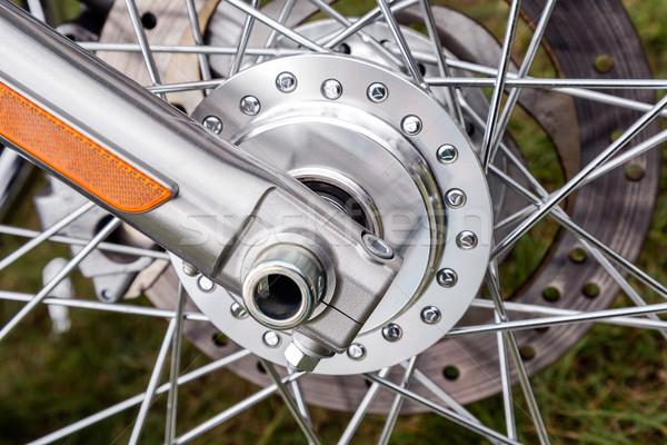 Spokes Motorcycle Wheel Stock photo © marekusz