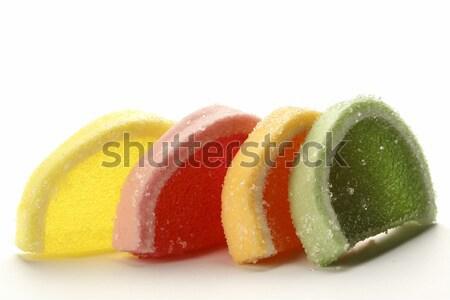 Zselé cukorkák négy színek cukrászda termék Stock fotó © marekusz