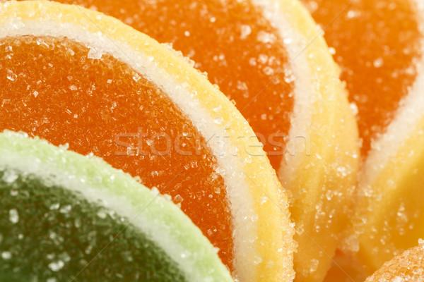 Színes zselé cukorkák cukrászda termék felfelé Stock fotó © marekusz