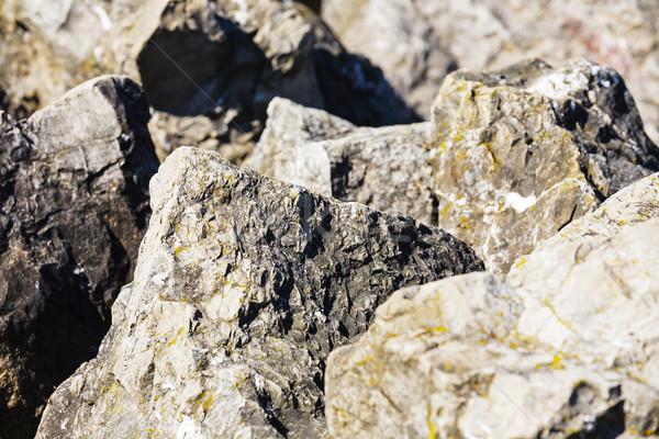 Hatalmas kő látható hegy kirándulás nyom Stock fotó © marekusz