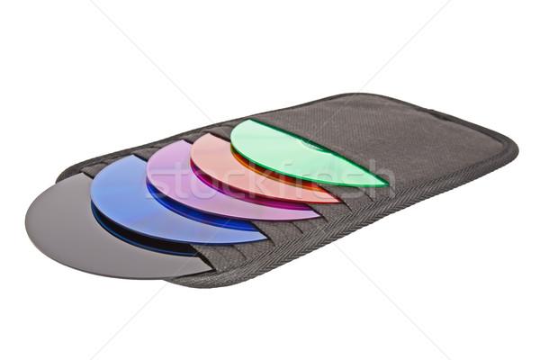 Cd colores oficina tecnología cuadro Foto stock © marekusz