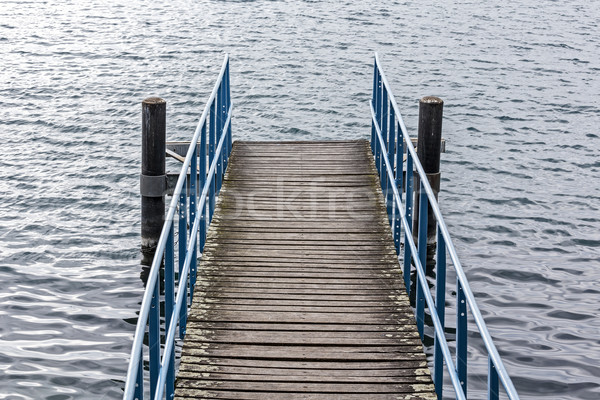 Pier over the waters of the lake  Stock photo © marekusz