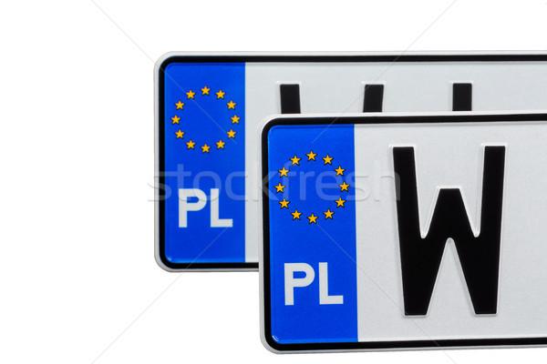 Kettő licenc tányérok európai fém csillag Stock fotó © marekusz