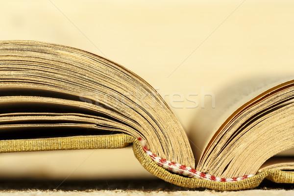 Könyv nyitva nyitott könyv felfelé zárt papír Stock fotó © marekusz