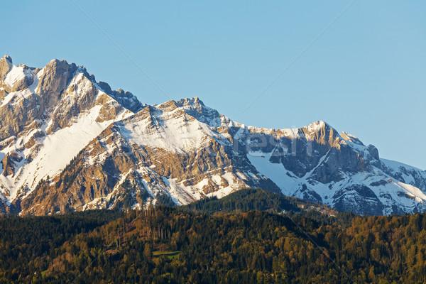 Hegyek reggel fény tájkép alpesi közelkép Stock fotó © marekusz
