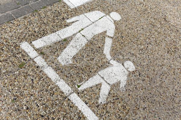 The lane dedicated for pedestrians Stock photo © marekusz