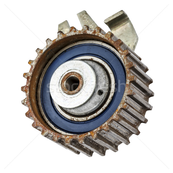 Worn out pulley of timing belt Stock photo © marekusz
