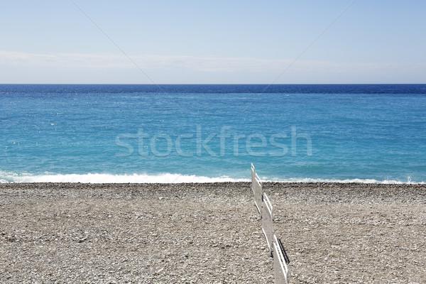 çakıl plaj güzel mesire Fransa Stok fotoğraf © marekusz