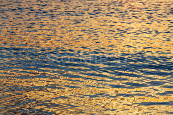 The surface of the Baltic Sea at sunset Stock photo © marekusz