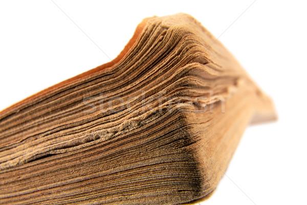 Close-up of old book on white background Stock photo © marekusz