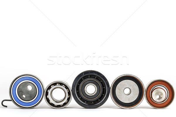 Worn tensioners, pulleys and bearing Stock photo © marekusz