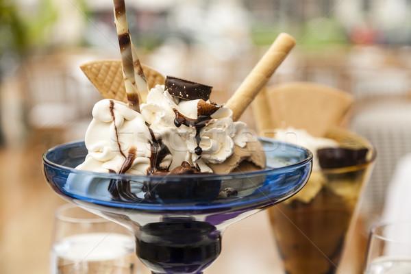 ice cream in a glass cup Stock photo © marekusz