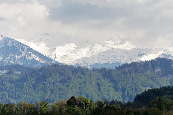 高山 風景 スイス 白 山 することができます ストックフォト © marekusz