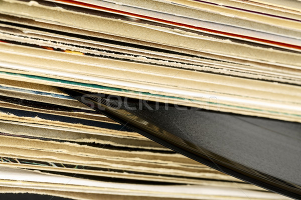 Vinilo registros uno registro cartón Foto stock © marekusz