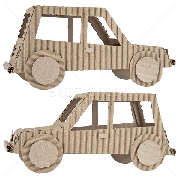 car made of corrugated cardboard Stock photo © marekusz