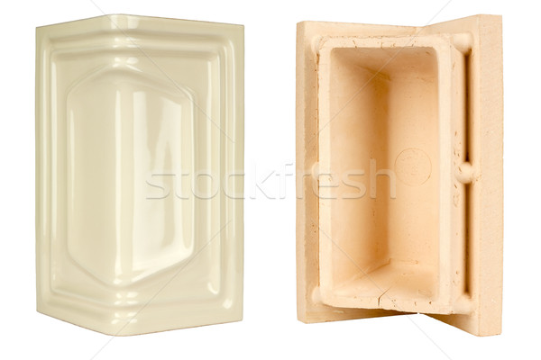 corner ceramic tile for the construction of fireplaces and stove Stock photo © marekusz