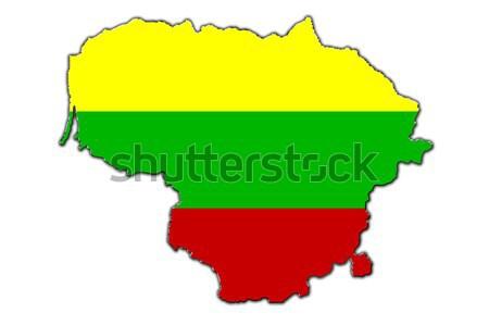 Stylized contour map of Lithuania Stock photo © marekusz