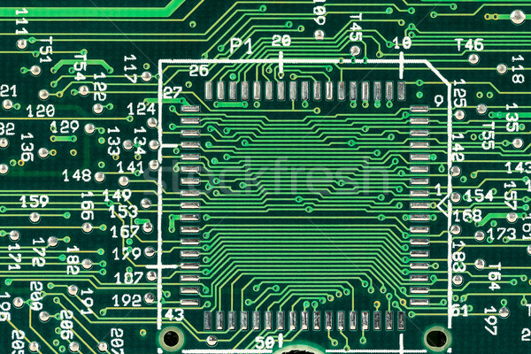 Green printed circuit board Stock photo © marekusz