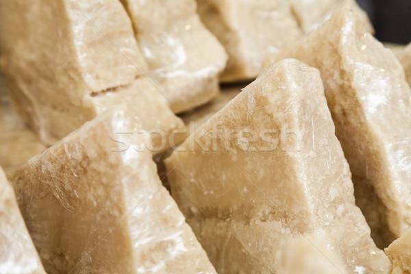 Pièces fromages jaune fraîches repas organique Photo stock © marekusz
