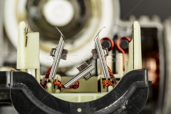 Elektromos tányér berendezés használt autóipari ipar Stock fotó © marekusz