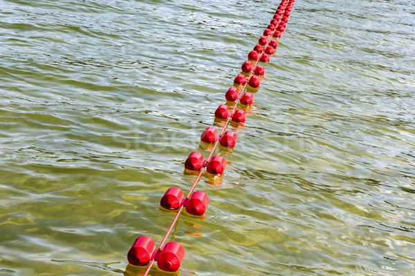 Tó lebeg műanyag kötél széf úszik Stock fotó © marekusz
