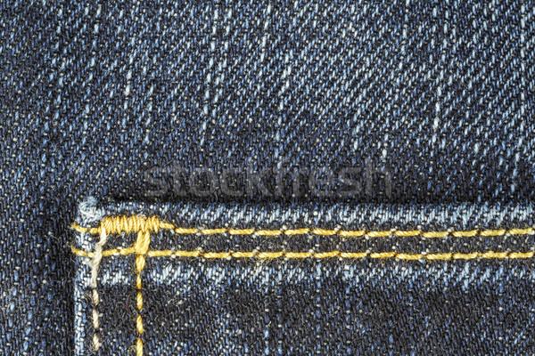 Detail of blue jeans trousers Stock photo © marekusz