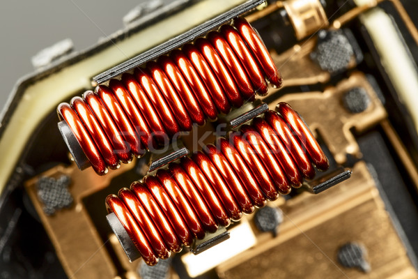 An electrical coil with iron core Stock photo © marekusz
