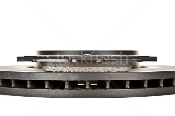brake disk and brake pad side view Stock photo © marekusz
