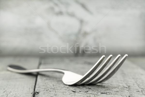 Villa asztal foltos deszkák konyha bár Stock fotó © marekusz