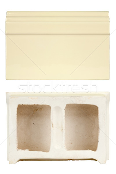 ceramic tile base to build stoves and fireplaces Stock photo © marekusz