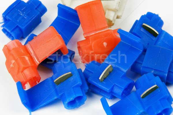 clamps of electrical car installation Stock photo © marekusz