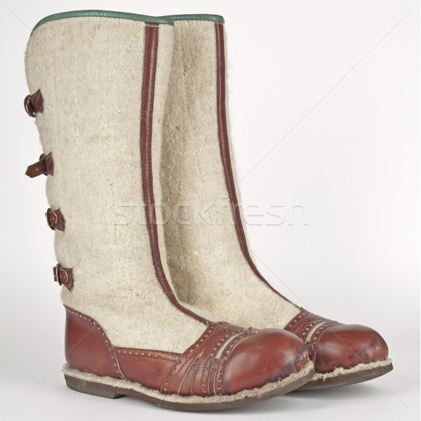 hand-made winter boots of highlanders of zakopane in poland Stock photo © marekusz