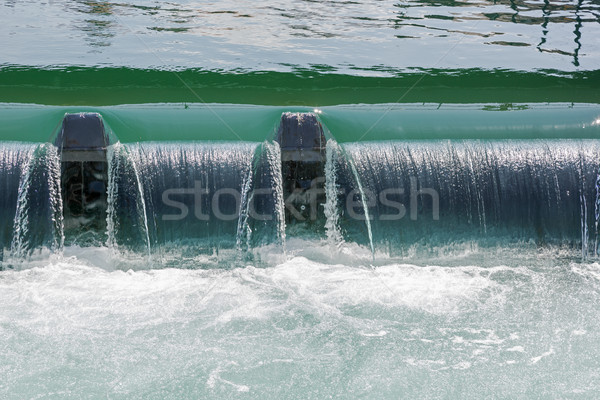 The weir in the river forms Small waterfall  Stock photo © marekusz