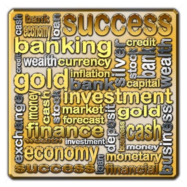 Cloud of words describing the finance and banking Stock photo © marekusz