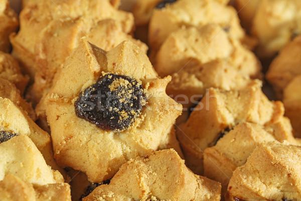 Cookies with fruit jam Stock photo © marekusz
