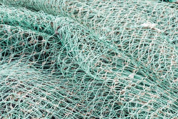 Közelkép zöld halászat kötelek textúra absztrakt Stock fotó © marekusz