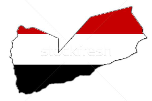 Estilizado contorno mapa Iémen coberto Foto stock © marekusz