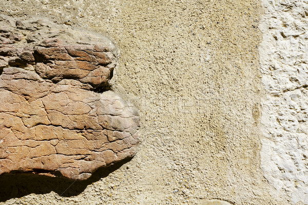 Old wall and protruding rock  Stock photo © marekusz