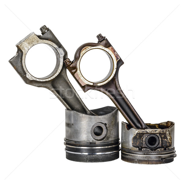 Two pistons and two connecting rods Stock photo © marekusz