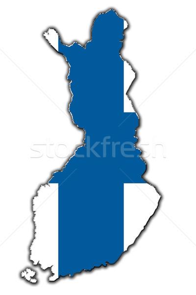 Stilizált körvonal térkép Finnország skicc fedett Stock fotó © marekusz