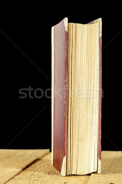 Könyv durva papír olvas könyvtár retro Stock fotó © marekusz