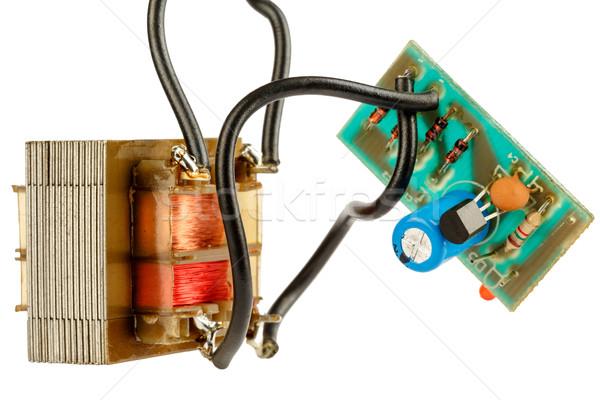Egyszerű elektronikus áramkör berendezés transzformátor technológia Stock fotó © marekusz
