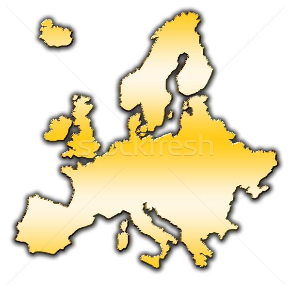 Európa skicc térkép fedett gradiens zászló Stock fotó © marekusz