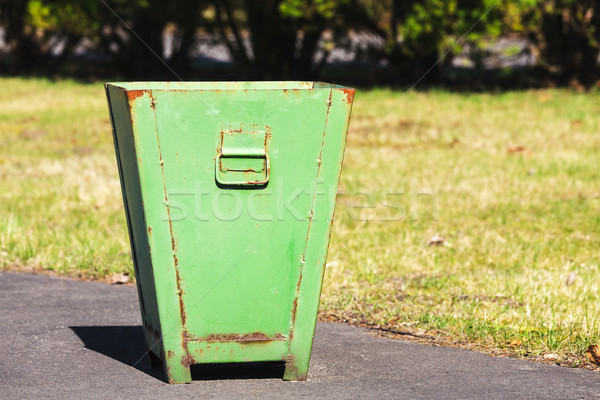 Metal bin for waste collection Stock photo © marekusz