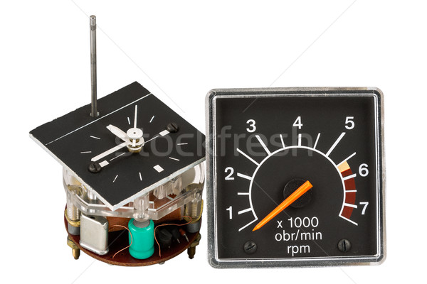 Automobile clock and tachometer Stock photo © marekusz