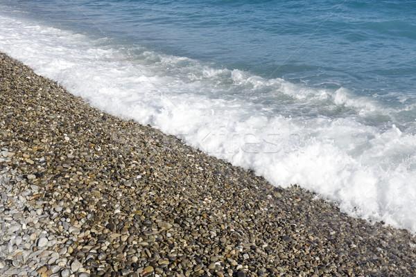 Mer vague plage caillou montrent Photo stock © marekusz