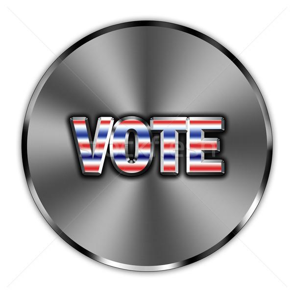 Votar botão palavra encorajamento assinar azul Foto stock © marekusz